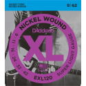 photo de CORDES GUITARE ELECTRIQUE NICKEL 09/42 D ADDARIO cote