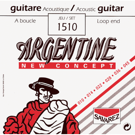 GUITARE A BOUCLE EXTRA LIGHT ARGENTINE gauche