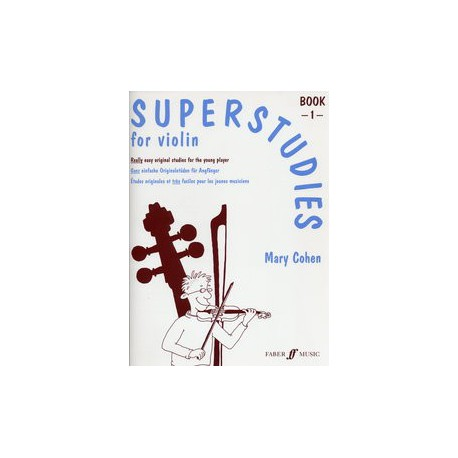 COHEN / SUPER STUDIES FOR VIOLIN BOOK 1 ID MUSIC arriere