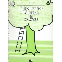 SICILIANO / FORMATION MUSICALE EN 2EME CYCLE VOL 6 Editions H CUBE face