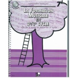 SICILIANO / FORMATION MUSICALE EN 2EME 3EME CYCLE VOL 7 Editions H CUBE face