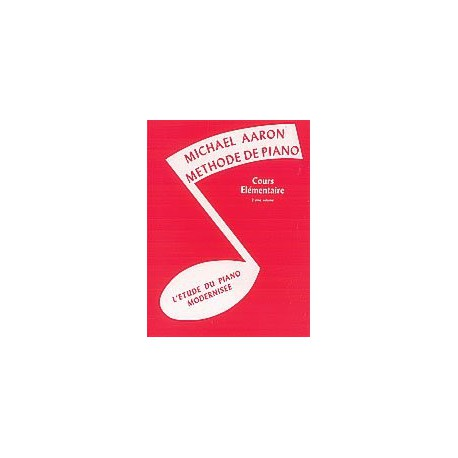 AARON / COURS ELEMENTAIRE VOL 2 Editions ALFRED PUBLISHING dessus