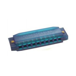 HARMONICA HAPPY COLOR PLASTIQUE BLEU HOHNER arriere