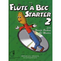 BUSKENS-MASTERS/ FLUTE A BEC STARTER VOL 2 PARTITION