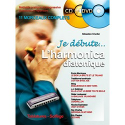 JE DEBUTE L HARMONICA DIATONIQUE + CD + DVD / CHARLIER HIT DIFFUSION