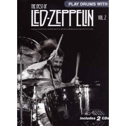 LED ZEPPELIN / THE BEST OF PLAY DRUM WITH VOL 2 ID MUSIC arriere