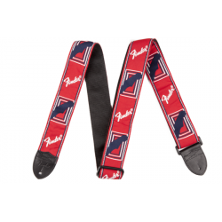 "2"" Monogrammed Strap, Red/White/Blue FENDER arriere"