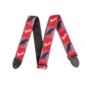 "photo de 2"" Monogrammed Strap, Red/White/Blue FENDER arriere"