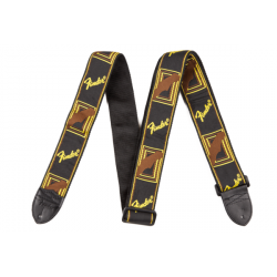 "2"" Monogrammed Strap, Black/Yellow/Brown FENDER"