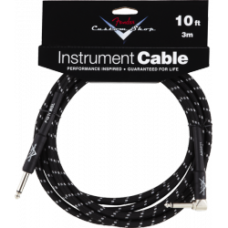 Custom Shop Performance Series Cable, 10 black coudé FENDER