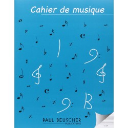 CAHIER GD FORMAT 12 PORTEES Editions PAUL BEUSCHER face