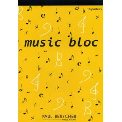 BLOC GRAND FORMAT 100 P 16 PORTEES JAUNE Editions PAUL BEUSCHER face