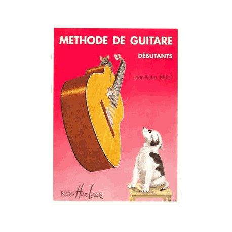 BILLET / METHODE DE GUITARE DEBUTANTS Editions HENRY LEMOINE face
