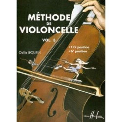 BOURIN / METHODE DE VIOLONCELLE VOL 3 PARTITION droite