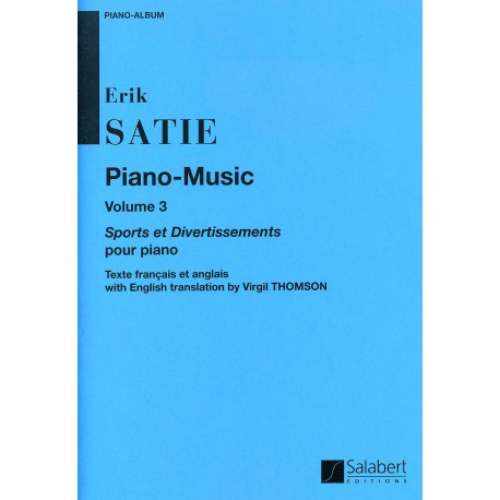 SATIE / PIANO MUSIC VOL 3 PARTITION cote
