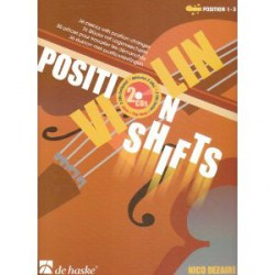 DEZAIRE /  VIOLIN POSITION SHIFTS Editions DE HASKE arriere