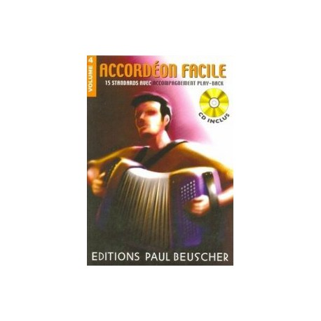 ACCORDEON FACILE 4 + CD PAUL BEUSCHER gauche