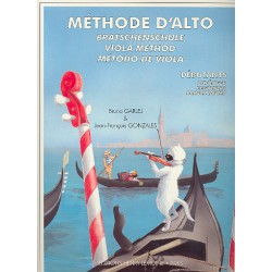 GARLEJ / METHODE D ALTO DEBUTANT PARTITION