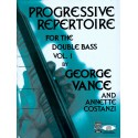 photo de VANCE GEORGE / PROGRESSIVE REPERTOIRE FOR THE DOUBLE BASS VOL 1 PARTITION gauche