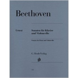 BEETHOVEN/ HENLE VERLAG/ CELLOSONATEN PARTITION