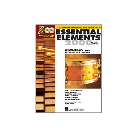 ESSENTIAL ELEMENTS / PERCU ET PERCUSSIONS MELODIQUES VOL1 + CD PARTITION cote