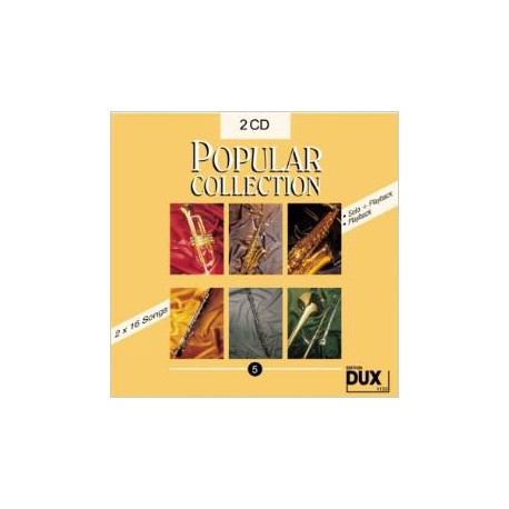 POPULAR COLLECTION VOL 5 CD DOUBLE PARTITION gauche