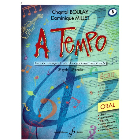 BOULAY - MILLET / A TEMPO ORAL VOL 8 Editions GERARD BILLAUDOT droite
