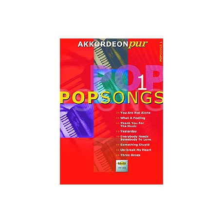 AKKORDEON PUR / POPSONGS VOL 1 PARTITION dessus