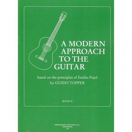 TOPPER / A MODERN APPROACH TO THE GUITAR VOL 2 HEXAMUSIC dessus