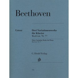 BEETHOVEN/ DREI VARIATIONENWERKE FUR KLAVIER PARTITION