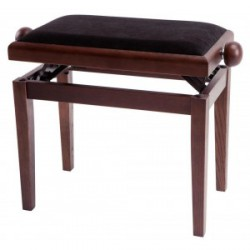 Banquette Piano DeLuxe Noyer Mat GEWA arriere