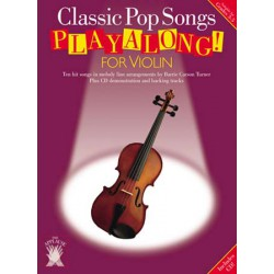 PLAYALONG CLASSIC POP SONGS VIOLIN CD Editions CHESTER MUSIC