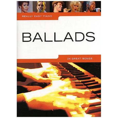 REALLY EASY PIANO BALLADS 24 SONGS Editions WISE PUBLICATIONS gauche
