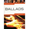 photo de REALLY EASY PIANO BALLADS 24 SONGS Editions WISE PUBLICATIONS gauche