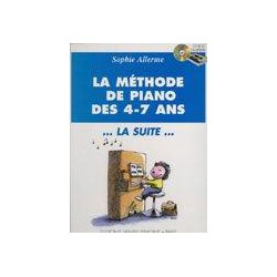 LA METHODE DE PIANO 4-7. LA SUITE. BLEU Editions HENRY LEMOINE dessus