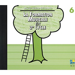FORMATION MUSICALE EN 2EME CYCLE VOL 6 CD Editions HENRY LEMOINE dessus