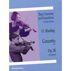 CONCERTO EN RE MAJ OP 36 Editions BOSWORTH arriere