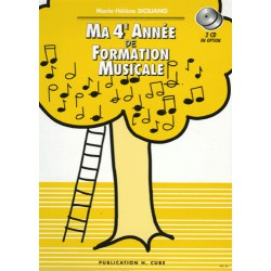 MA 4EME ANNEE DE FORMATION MUSICALE Editions H CUBE cote
