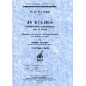 photo de 36 ETUDES ELEMENTAIRES ET PROGRESSIVES OPUS 20 Editions DURAND face