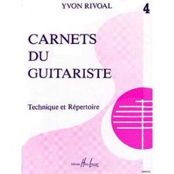 Carnets du guitariste Vol.4 Editions HENRY LEMOINE