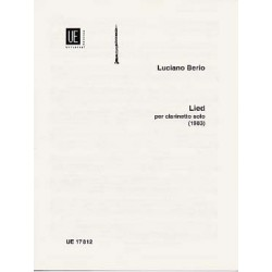 LIED CLARINETTE Editions UNIVERSAL