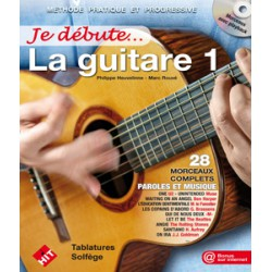 JE DEBUTE LA GUITARE VOL 1 NOUVELLE EDITION et CD HIT DIFFUSION gauche
