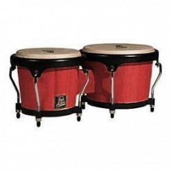 LPA601-RW BONGOS ASPIRE RED WOOD LATIN PERCUSSION gauche