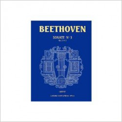 BEETHOVEN/ SONATE N°03 OP2 N°3 PARTITION arriere