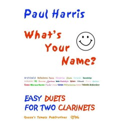 WHAT S YOUR NAME? FOR TWO CLARINET PARTITION dessus