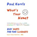 photo de WHAT S YOUR NAME? FOR TWO CLARINET PARTITION dessus