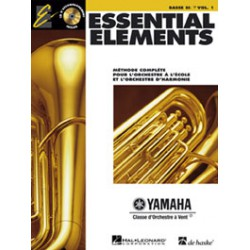 ESSENTIAL ELEMENTS 1 POUR TUBA SIB BC Editions HAL LEONARD