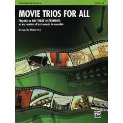 MOVIE TRIOS FOR ALL TROMPETTE Editions ALFRED PUBLISHING