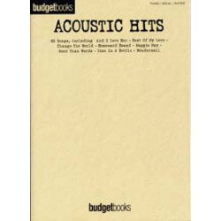 BUDGETBOOKS ACOUSTIC HITS PVG Editions HAL LEONARD gauche