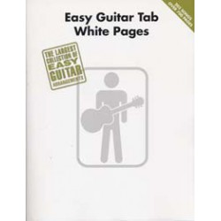 WHITE PAGES EASY GUITAR TAB Editions HAL LEONARD